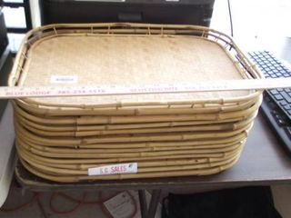 stack of serving trays