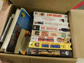 Miscellaneous lot of VHS tapes