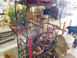 Plant stand   contents not included
