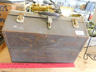 large metal toolbox   contents included