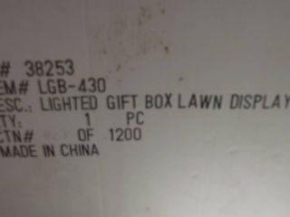 lighted gift box lawn display