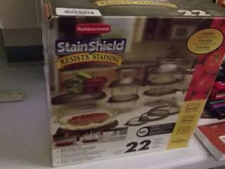 Rubbermaid stain shield containers   22 pieces   NEW