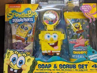 SpongeBob soap and scrub set