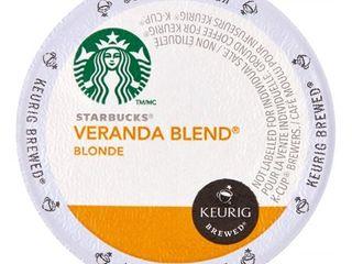 Starbucks Blonde Roast Single Serve for Keurig  Veranda  24 Ct