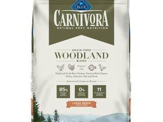 qtBlue Buffalo Blue Carnivora Woodland Blend Optimal Prey Nutrition Grain Free Adult large Breed Dry Dog Food  22 lbs
