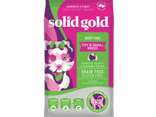 Solid Gold Grain Free Mighty Mini Turkey   Hearty Vegetable Dry Dog Food  11 lbs
