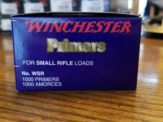 Winchester Small Rifle Primers WSR Quantity 1000