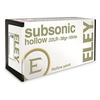 Eley   22lR Subsonic  HP  38 Grain  50 Rounds per box 2 Boxes bid X 2