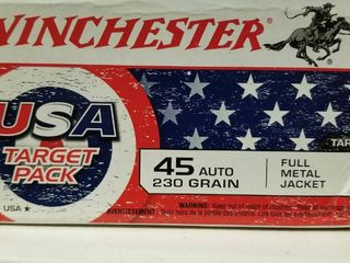 Winchester  45 auto 230 gr full metal jacket usa target pack