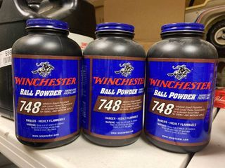 Winchester 748 ball powder medium speed propellant for small and medium rifle approximately 3 pounds total