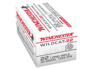 Winchester Wildcat   22 long Rifle  lRN  40 Grain  50 Rounds X 5 250 rounds total bid is x 5 time the bid