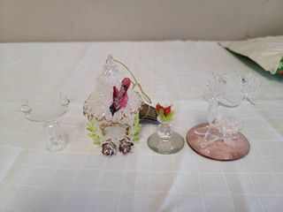 Miniature Glass Bird Figurines