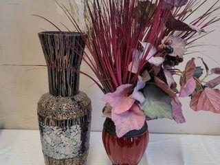 2 Vases w  Contents