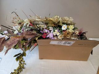 Box Of Faux Plant Decor