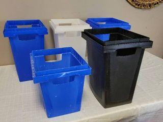 5 Storage Boxes  No lid