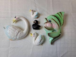 Swan and Fish Wall Decor