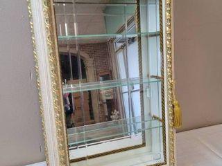 Mirrored Curio Cabinet w  Glass Door