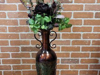Tall Tin Vase w  Greenery