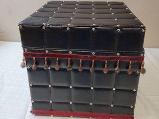 Black Ottoman w  Storage