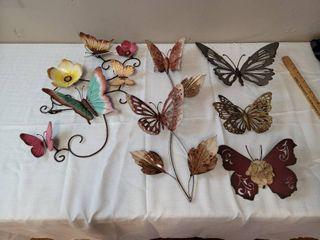 Metal Wall Hanging Butterflies
