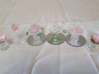 Miniature Glass Flower Figurines