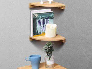 Three Wooden Corner Shelves