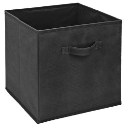 Nine Black Collapsible Storage Bins