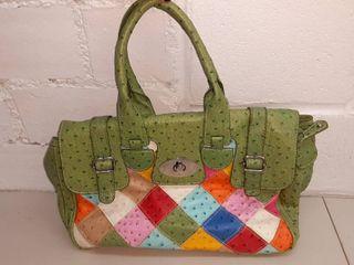 Green Quilt Print Handbag