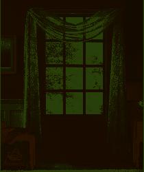 Botanical window scarf 52in w x 216in l