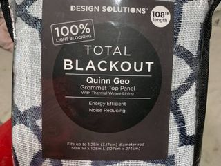 design solutions total blackout Quinn geo grommet top panel with thermal weave lining
