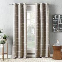 Sun Zero Shibori Stone Curtain Panels