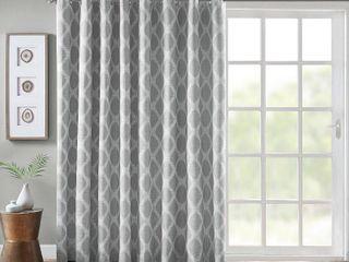 SunSmart Blakesly 100  x 84  Printed Ikat Blackout Patio Curtain