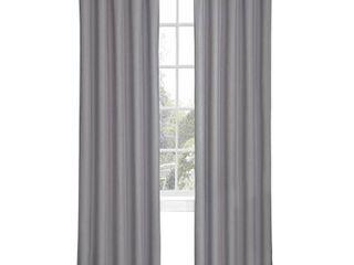 84 x42  Microfiber Blackout Curtain Panel Gray   Eclipse My Scene