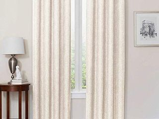Quinn 72 Inch Grommet Top 100  Blackout Window Curtain Panel in Ivory