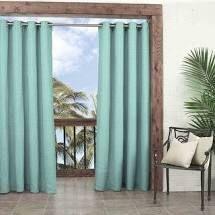 Waverly Sun n Shade Key largo Curtain Panel   Aqua