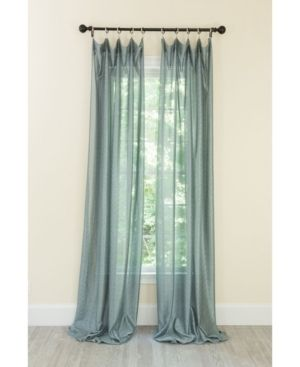 Manor luxe la Rosa Metallic Semi Sheer Rod Pocket Curtain Collection   Smoke Blue