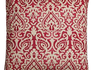 Rizzy Home Decorative Poly Filled Throw Pillow Damask 22 X22  Red  set of 2