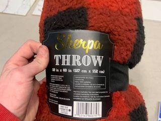 Sherpa throw blanket   50x60