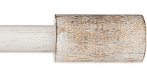 Urban Modern Barrel 48 To 84 inch Single Curtain Rod In Distressed White