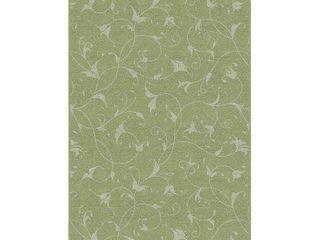 Brumlow Mills Caitlin Floral Printed Rug  Med Green  2 5X4 Ft
