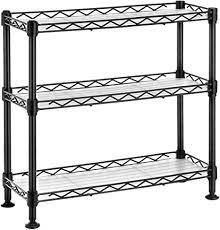 household kitchen rack 3 tier steel wire small counter top