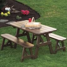 a and l furniture co traditional straight leg pine picnic table