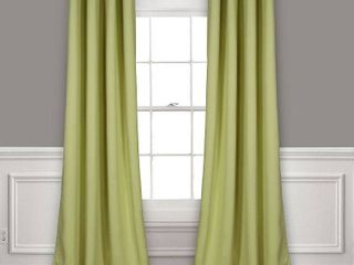 Set of 2  84 x52  Insulated Grommet Top Blackout Curtain Panels Green   lush DAccor