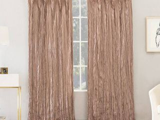 84 x50  Odelia Distressed Velvet Tab Top light Filtering Curtain Panels Pink   No  918