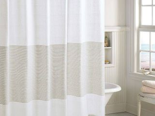 Peri Home Panama Stripe Shower Curtain  Size One Size   Beige