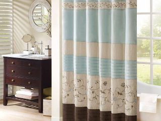 Home Essence Monroe Embroidered Shower Curtain