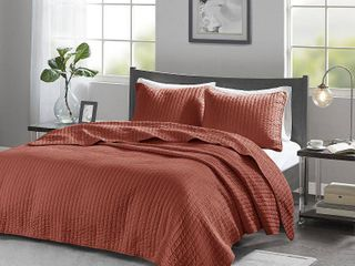 King California King Mitchell Reversible Coverlet Set   Spice
