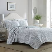Blue Amberley Quilt Set  King    laura Ashley