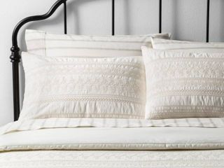 Comforter Set King Embroidered   Tonal Cream   Hearth   Hand with Magnolia