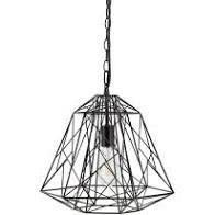 Harlow geometric metal wire 1 light pendent black
